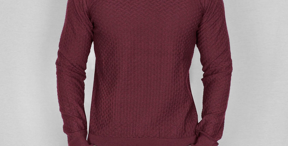 Bewley & Ritch - Crew Neck Moban Knit - Burgundy