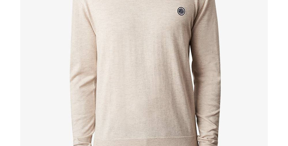 Pretty Green - Crew Neck Knitted Jumper - Stone