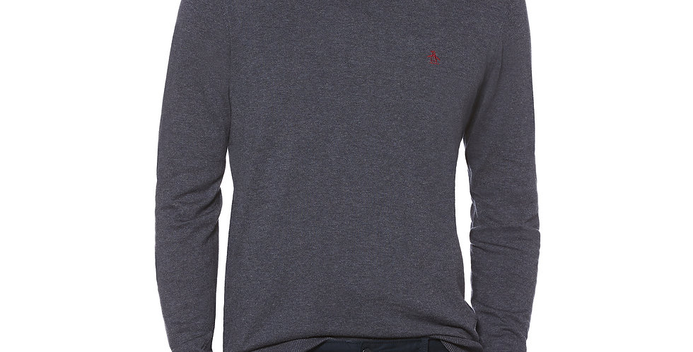 Original Penguin - Supima Cotton Crew Neck Jumper - Dark Sapphire