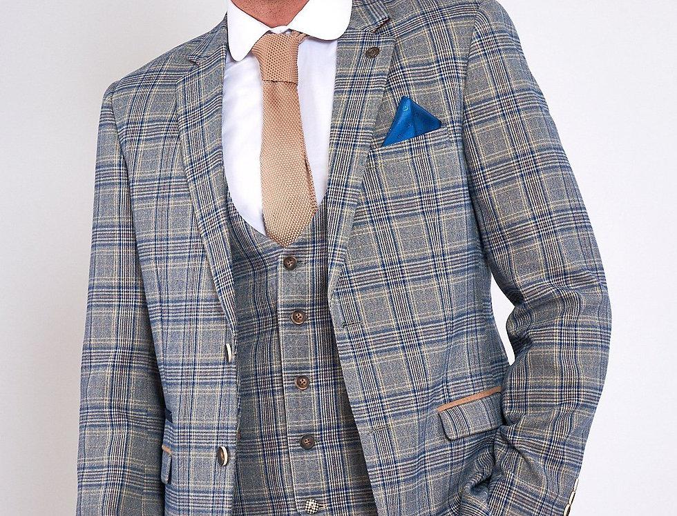 Marc Darcy - ENZO - Sky Stone Tweed Check Blazer
