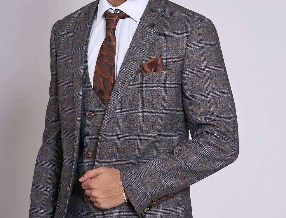 Marc Darcy - JENSON - Grey Check Blazer