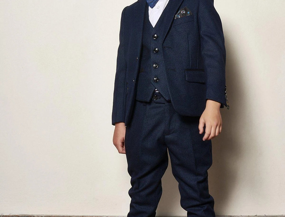 Marc Darcy Kids - CALLUM - Blue Three Piece Suit
