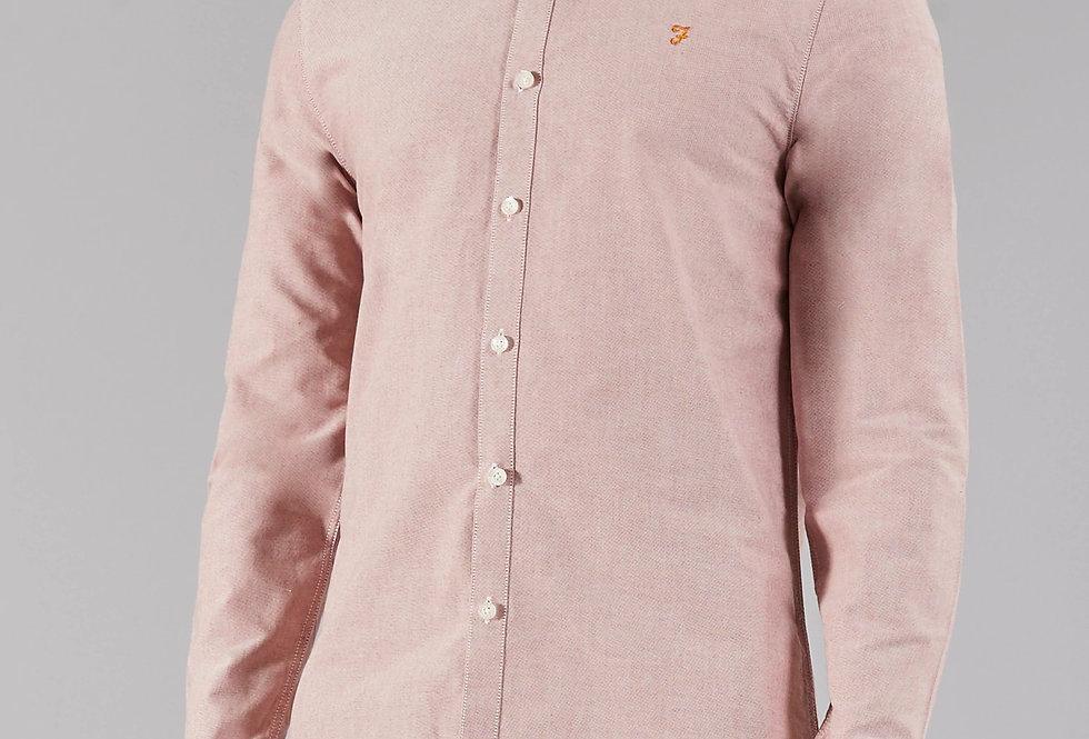 Farah - Brewer Slim Shirt - Currant