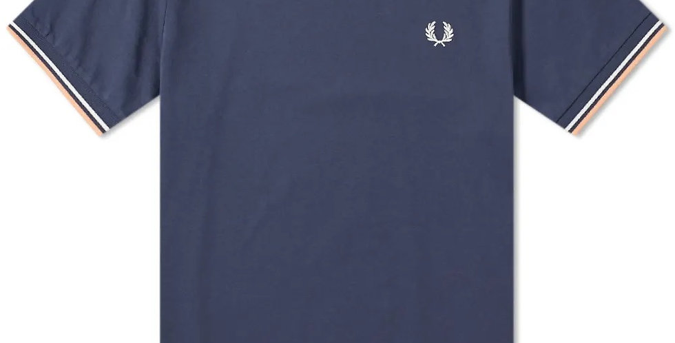 Fred Perry - Twin Tipped T-Shirt - Dark Airforce