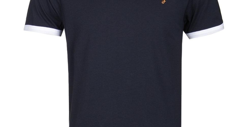 Farah - Groves Slim Fit Ringer T-Shirt - True Navy