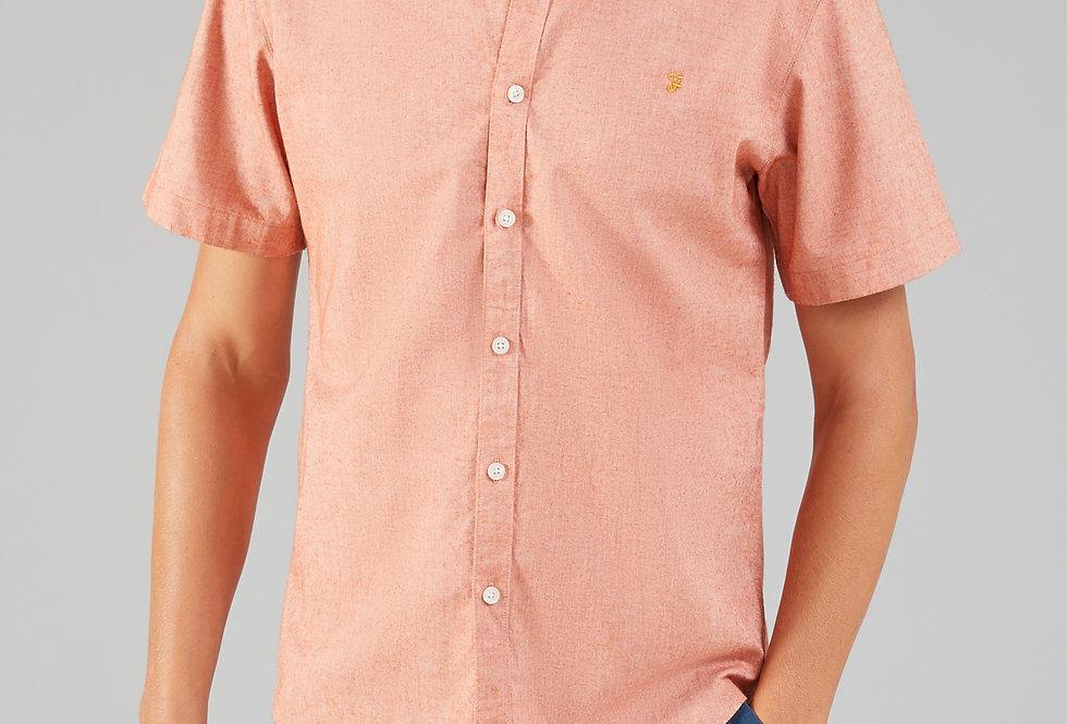 Farah - Steen Button Down Short Sleeve Shirt - Goldfish