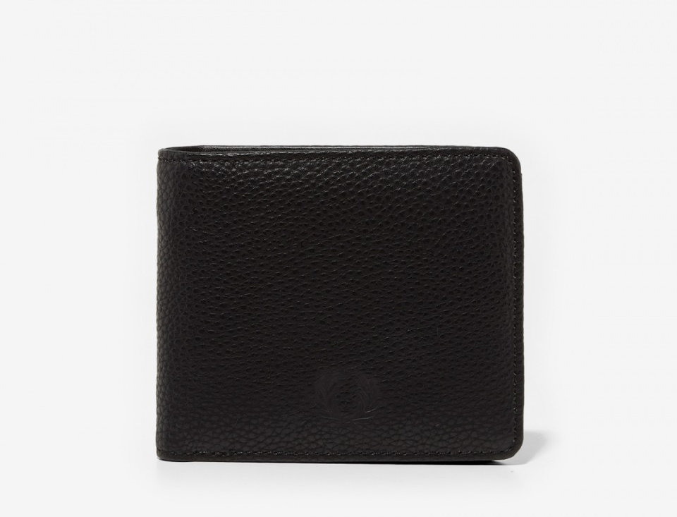 Fred Perry - Tumbled Billfold Wallet - Black