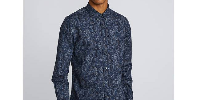 Pretty Green - Paisley Print Shirt - Navy