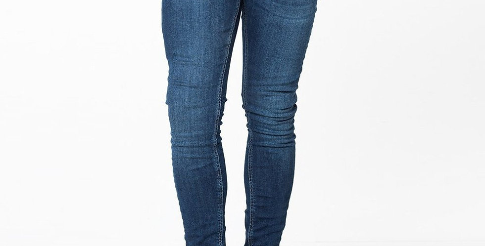 Level 1/11 Degrees - Plain Skinny Jeans - Indigo Blue