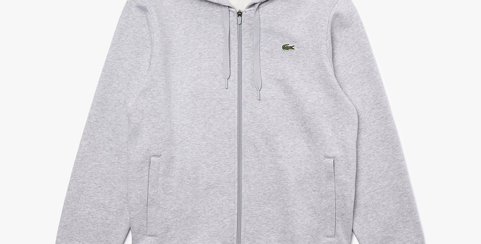 Lacoste - Hooded Lightweight Bi-material Sweatshirt - Grey