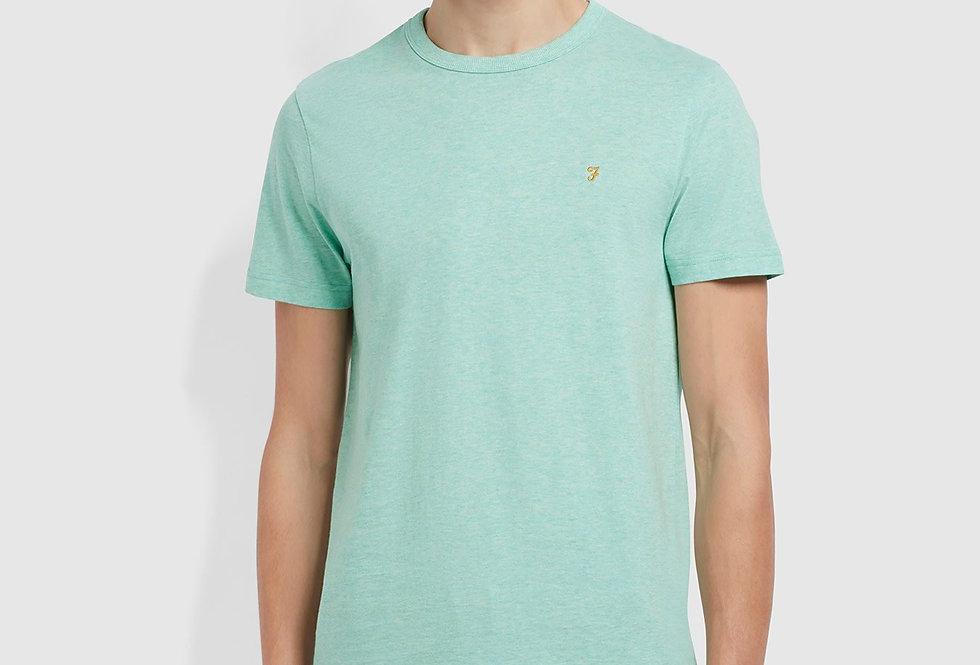 Farah - Danny Marl T-Shirt - Green Crest Marl