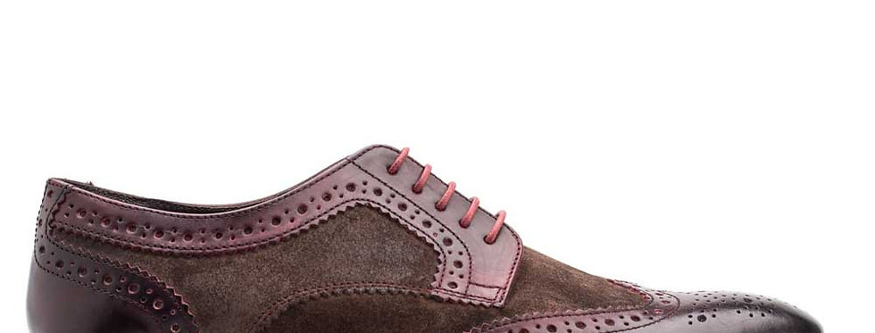 Base London - Conflict - Waxy Bordo / Suede Brown