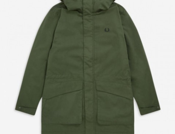 Fred Perry - Padded Hooded Jacket - Hunting Green