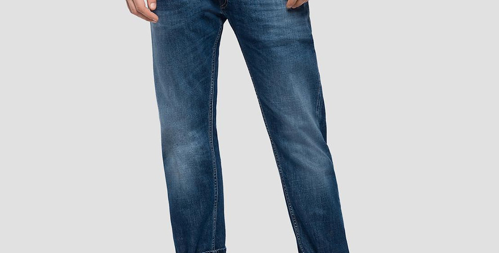 Replay - Rob Straight Tapered Fit Jeans - Dark Blue