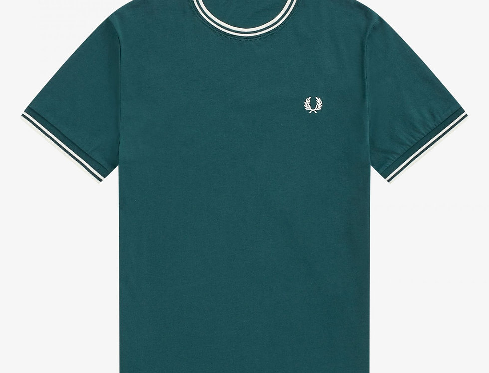 Fred Perry - Twin Tipped T-Shirt - Petrol Blue