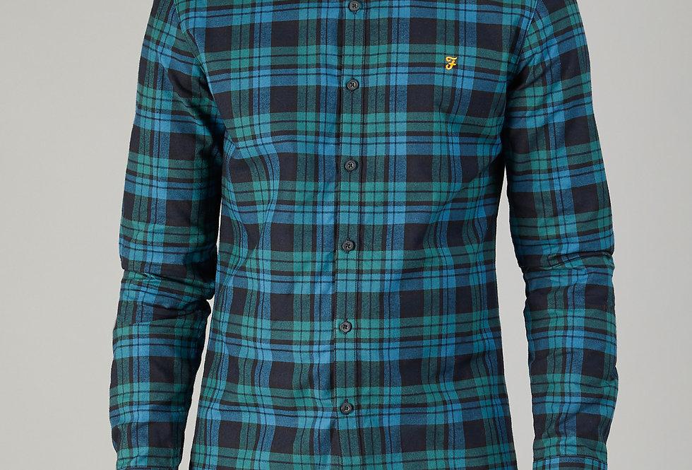 Farah - Radley Check Shirt - Ocean