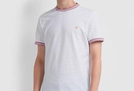 Farah - Texas Slim Fit T-Shirt - White