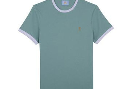 Farah - Groves Slim Fit Ringer T-Shirt - Jade Green