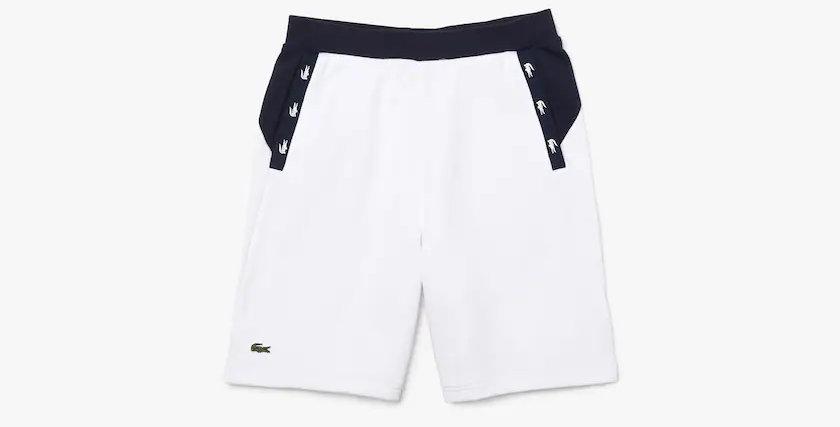 Lacoste - Crocodile Bands Shorts - White