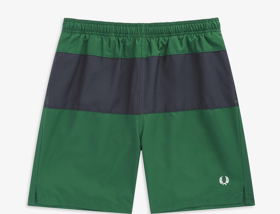 Fred Perry - Panelled Swim Shorts - Ivy