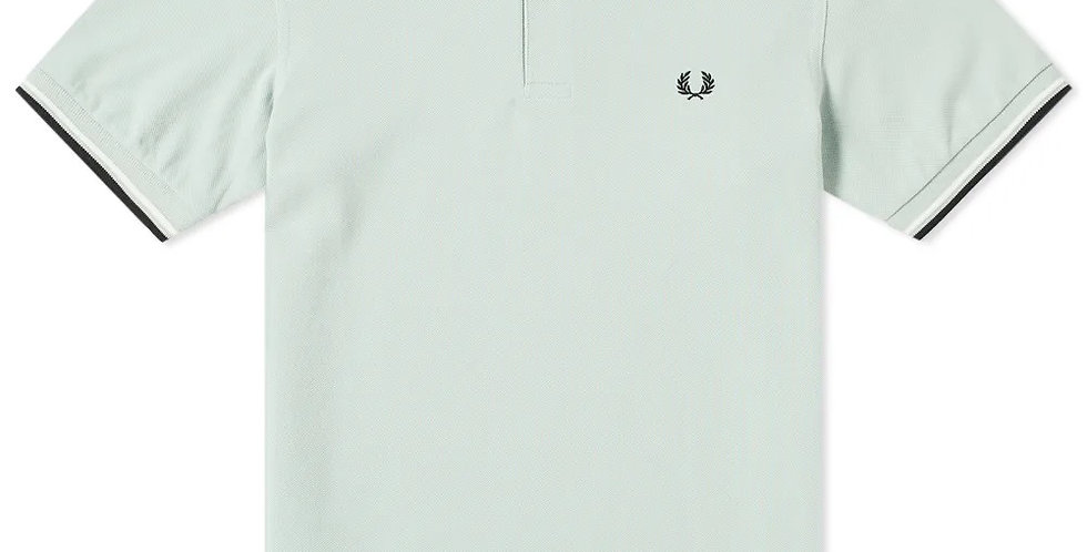Fred Perry - Twin Tipped Polo - Mint / Snow White / Black