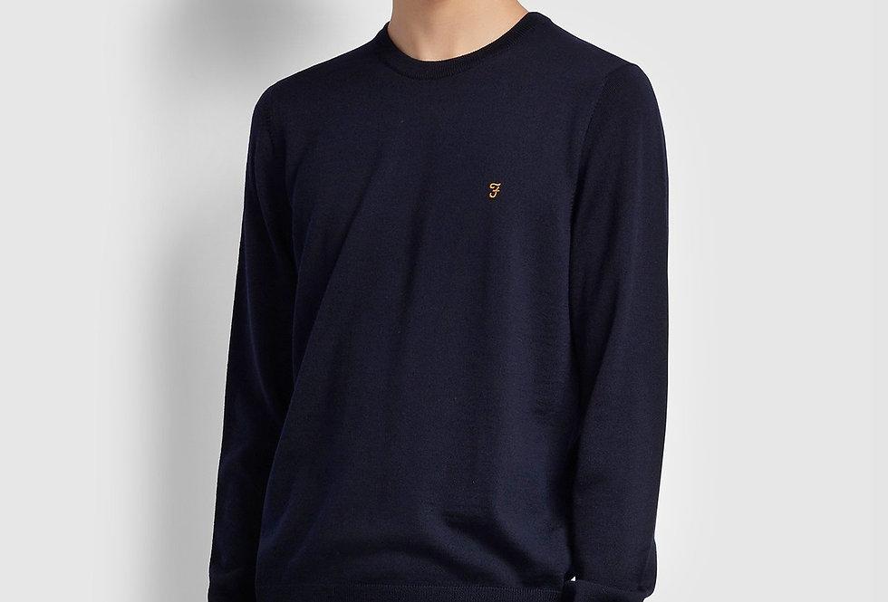 Farah - Mullen Merino Wool Sweater - Navy