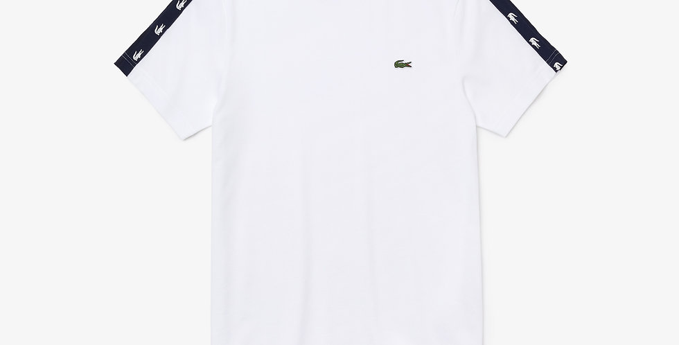 Lacoste - Crocodile Bands T-shirt - White
