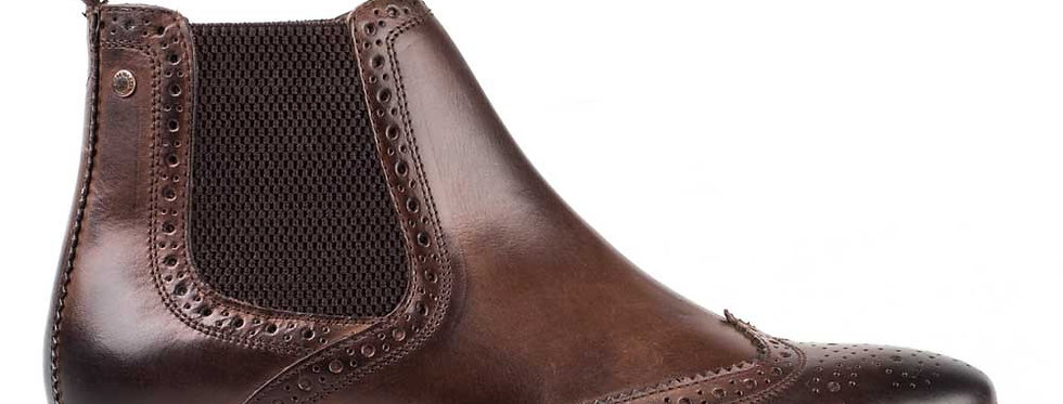 Base London- Riley Chelsea Boot - Burnished Cocoa