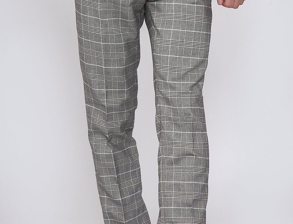 Marc Darcy - ROSS - Grey Check Trousers
