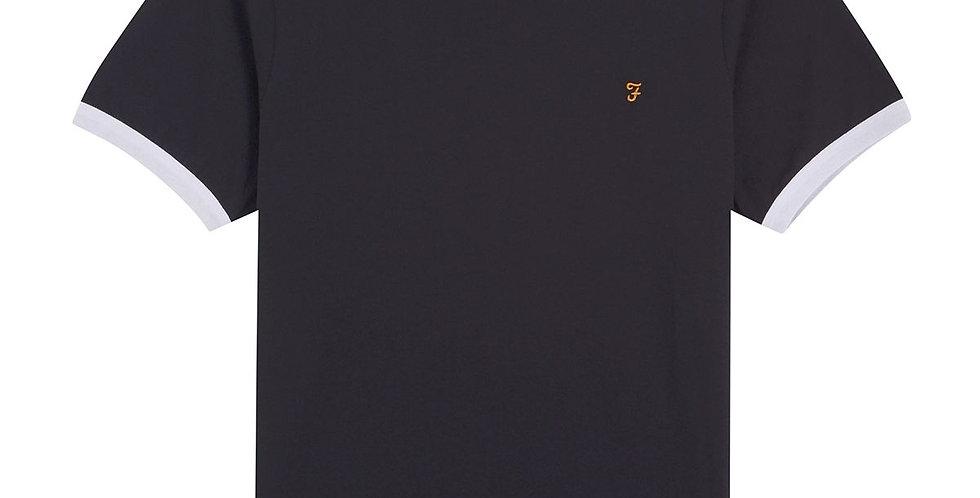 Farah - Groves Slim Fit Ringer T-Shirt - Black
