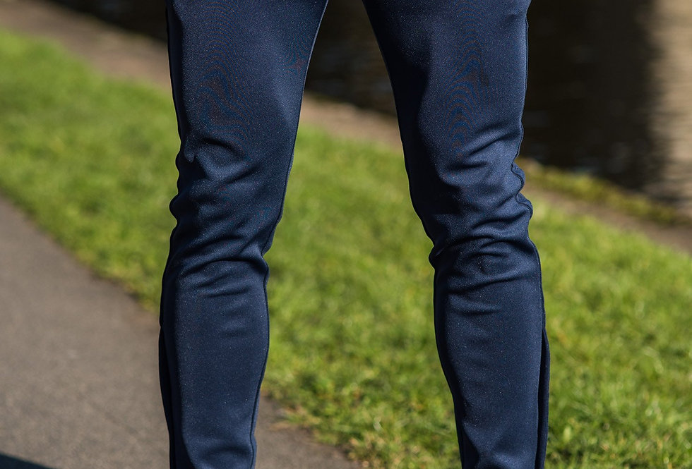 Gym King - Ellis Tapered Poly Tracksuit Bottoms - Navy/Navy