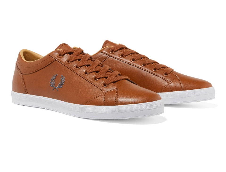 Fred Perry - Baseline Leather Plimsoll - Tan