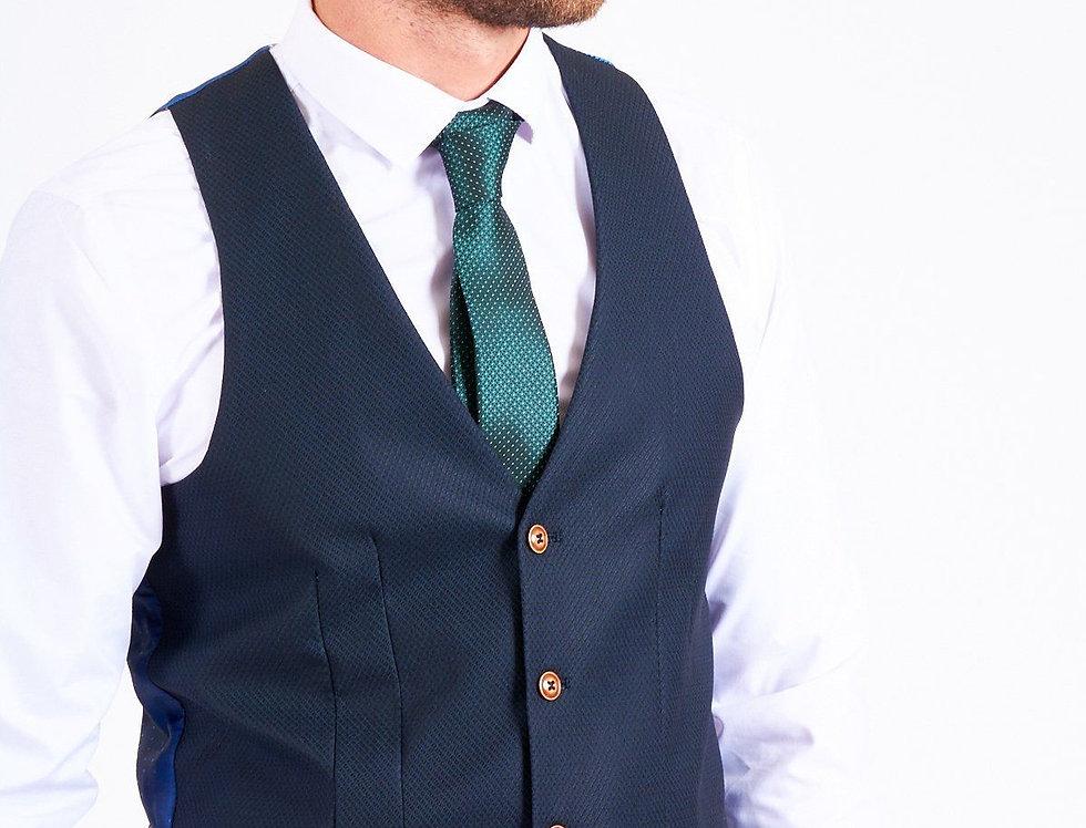 Marc Darcy - MAX - Navy Single Breasted Waistcoat