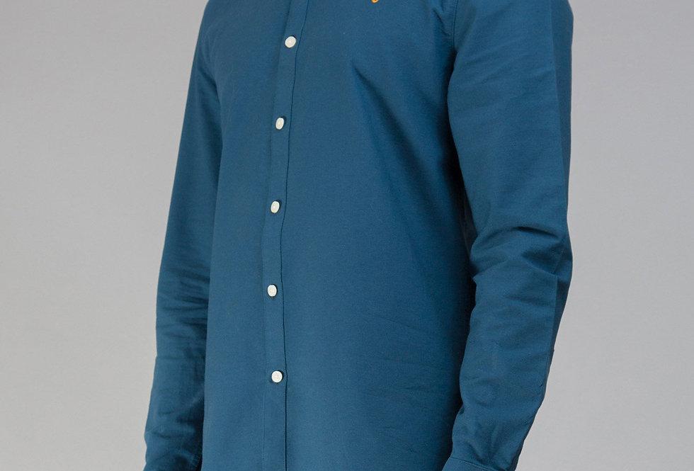 Farah - Brewer Slim Shirt - Atlantic