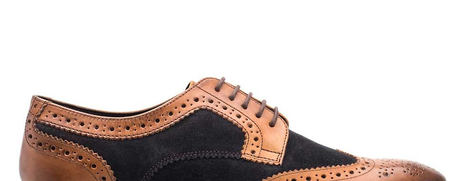 Base London - Conflict - Waxy Tan / Suede Navy