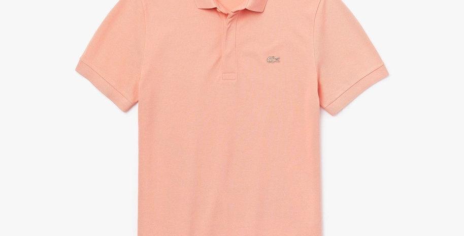 Lacoste Paris Polo Shirt Regular Fit Stretch Cotton Piqué - Pink
