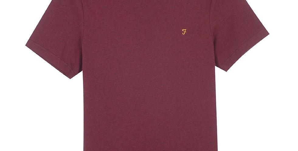 Farah - Danny Slim Fit Organic Cotton T-Shirt - Farah Red Marl