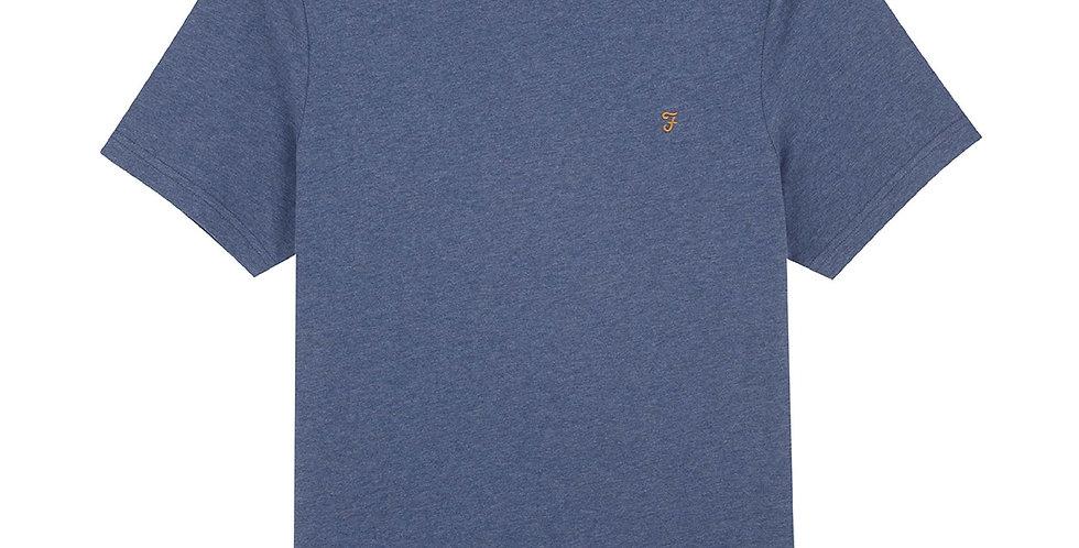 Farah - Danny Slim Fit Organic Cotton T-Shirt - Dark Denim Marl