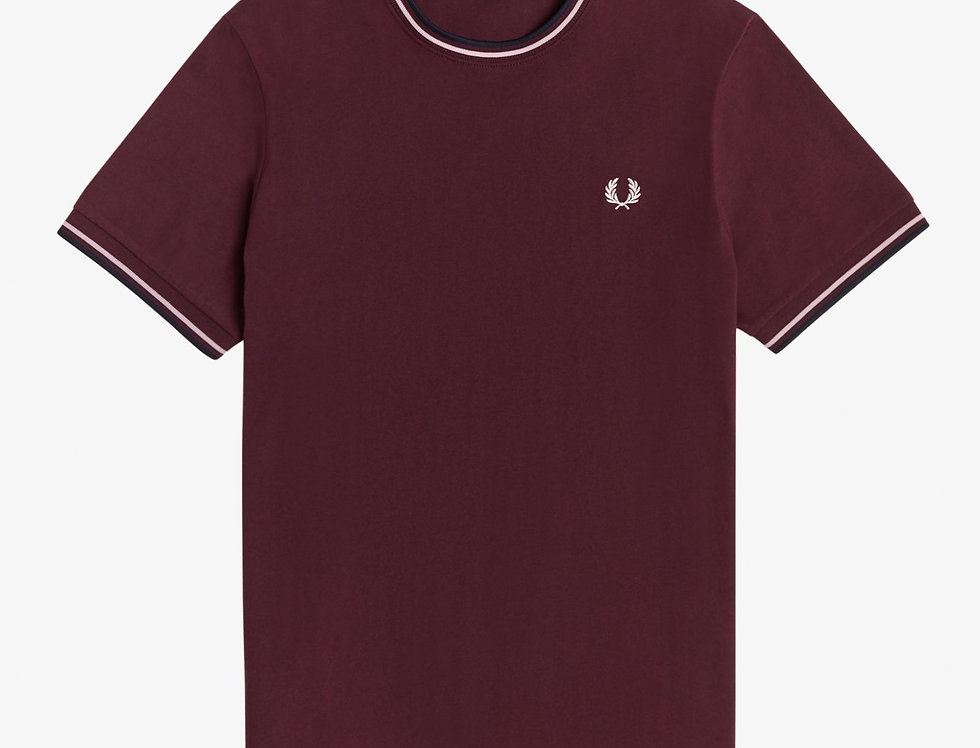 Fred Perry - Twin Tipped T-Shirt - Mahogany