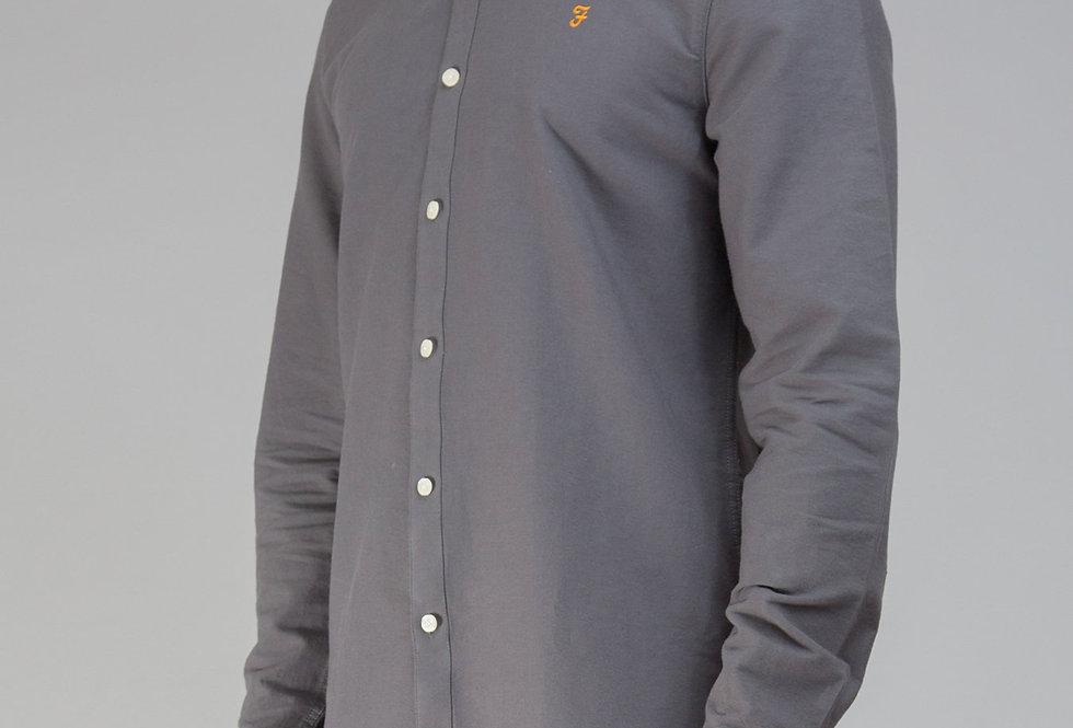 Farah - Brewer Slim Shirt - Asphalt