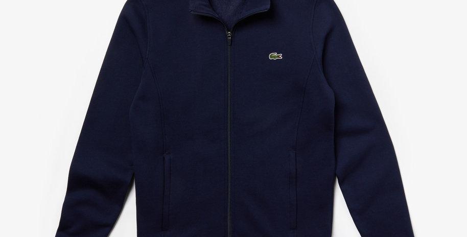 Lacoste Sport zip-up fleece sweatshirt - Navy