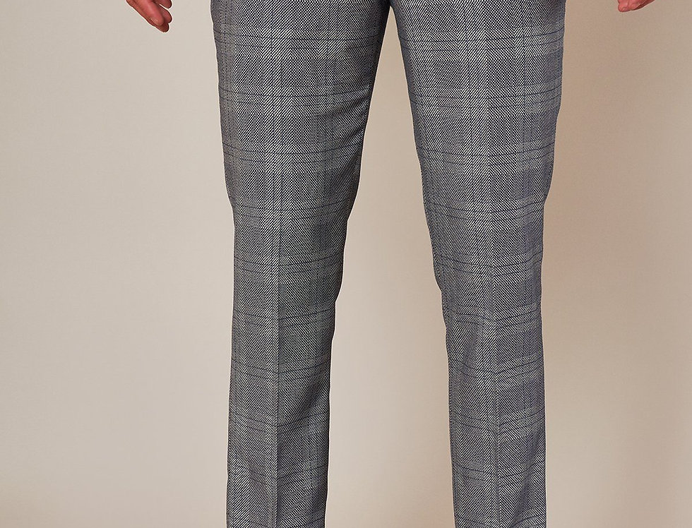 Marc Darcy - JERRY - Grey Check Trousers