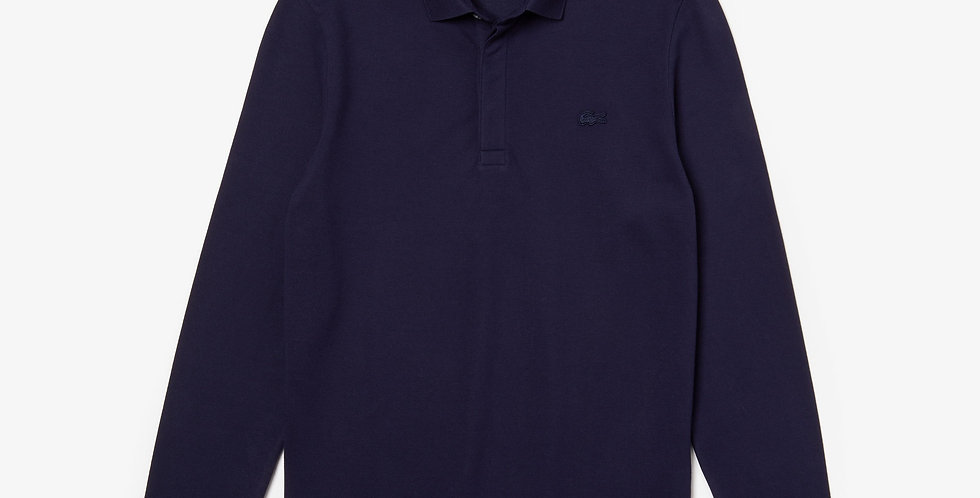 Lacoste - L/S Paris Polo Regular Fit Stretch Cotton Piqué - Navy Blue
