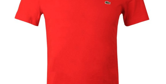 Lacoste - Plain Regular Fit Tee - Red
