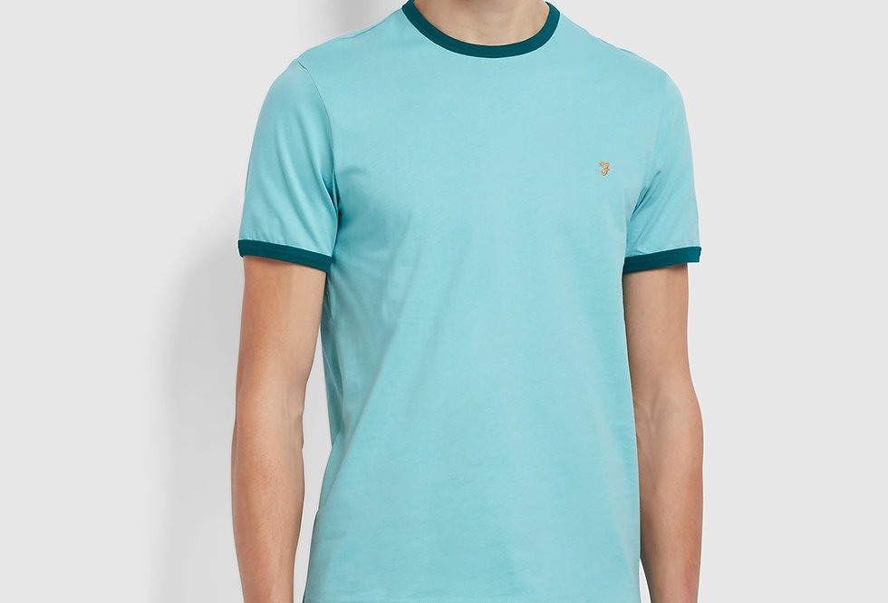 Farah - Groves Slim Fit Ringer T-Shirt - Reef Green
