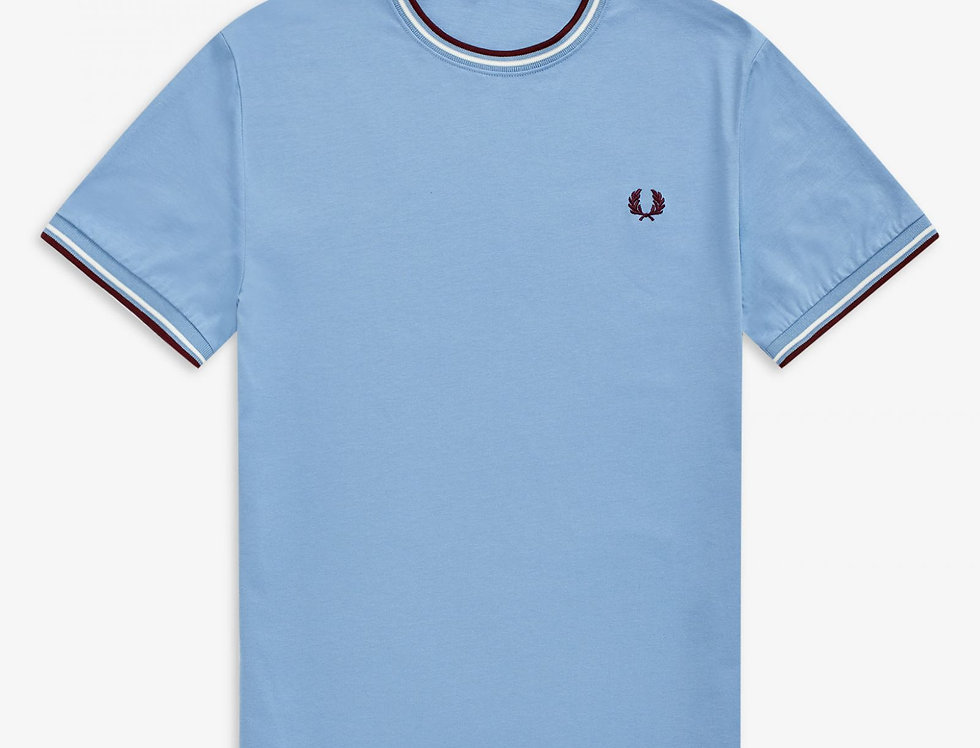 Fred Perry - Twin Tipped T-Shirt - Sky