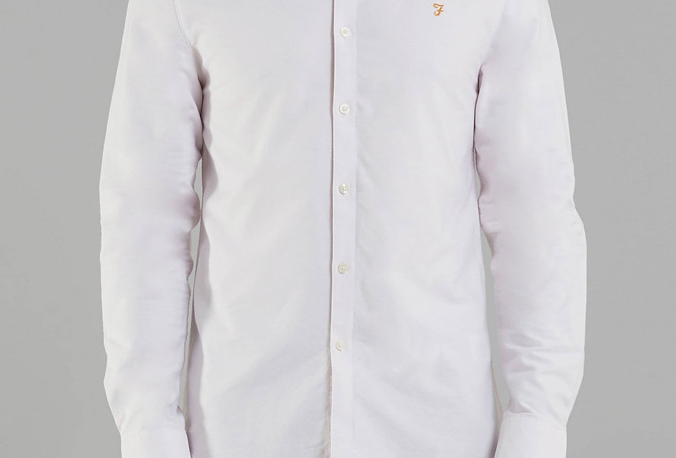 Farah - Brewer Slim Shirt - Winter Lilac