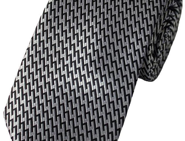 Lloyd Attree & Smith - Monochrome Poly Tie - Black