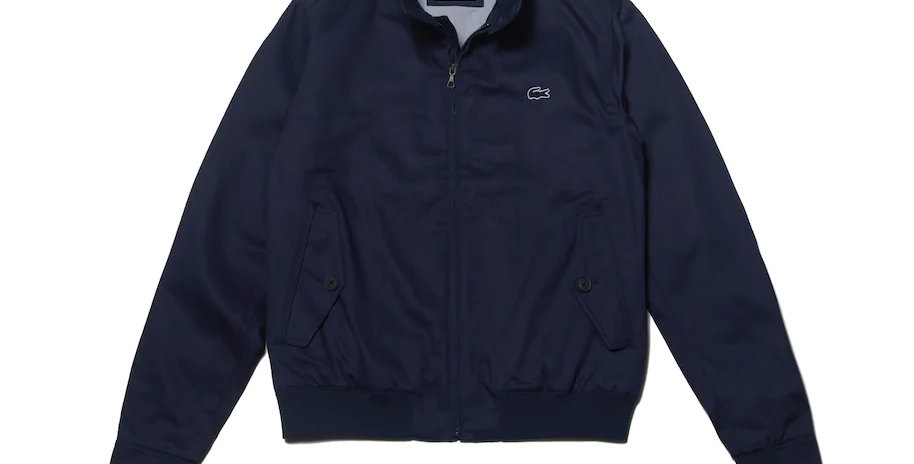 Lacoste - Short Zip Cotton Twill Jacket - Navy Blue