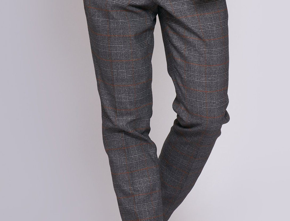 Marc Darcy - JENSON - Grey Check Trousers